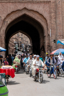 Busy street in Lahore, Pakistan