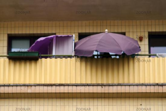 Balcony with umbrella