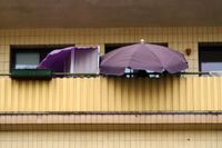 Balcony with umbrella