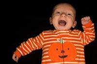 Baby Hayden on Black at Three Months Old