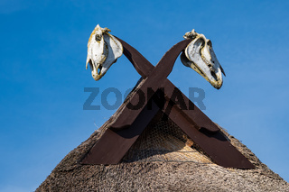 Dachgiebel eines Hauses auf dem Fischland-Darß in Ahrenshoop
