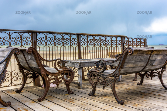 Decorative sitting place at the seaside