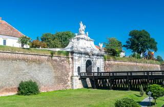 The 3rd Gate of the Citadel Alba-Carolina in Alba Iulia, Romania