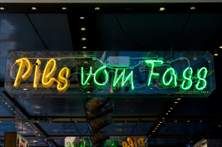 Pils vom Fass Beer from Barrel German Neon Sign