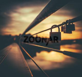 Sunset Love Lock
