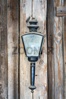 Vintage lamp with dusty glass hanging