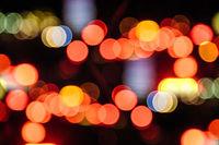 Abstract circular bokeh of Christmas light background