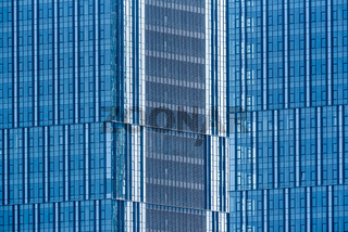 Glass facade of a modern skyscraper