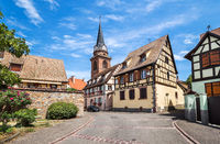 Beautiful small town Bergheim, Alsace, France