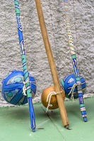 Brazilian musical instruments called berimbau