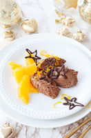 Mousse au Chocolat with oranges
