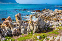 Picturesque ridge of stones