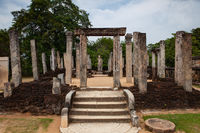 Polonnaruwa - the ruins of an ancient temple, Sri Lanka.