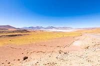 Chile Atacama desert red rocks panoramic view
