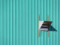 Wall of a Garage, sheet metal plating or zinc metallic