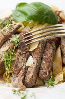 Rindfleisch auf Pasta