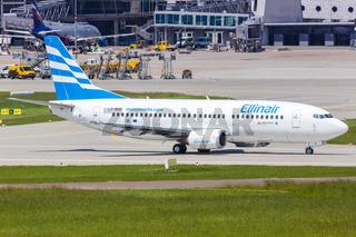 Ellinair Boeing 737 airplane Stuttgart airport