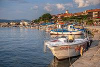 Panoramic view of the city of Nessebar, Bulgaria