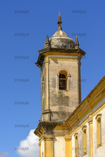 Ancient historical catholic baroque bell church tower