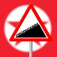 Propaganda Revolutionary Deception From North Korean 3d Illustration