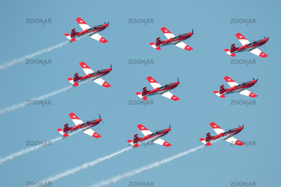 Swiss air force PC-7 Team