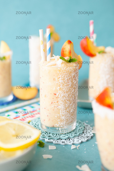 Frozen coconut cocktail