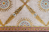 Mosaics in the Princes bath of the Art Nouveau complex Sprudelhof