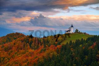 Church of St. Primoz in Slovenia