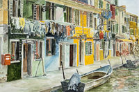 Venice, the colorful houses in Burano