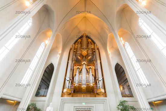 Hallgrimskirkja Cathedral Interior