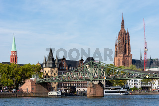 Waterfront of the Main River in Frankfurt