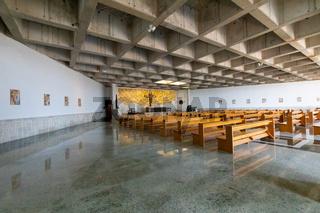 Chile Coquimbo internal view of third millennium church