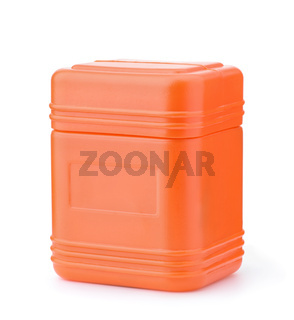 Blank orange plastic container