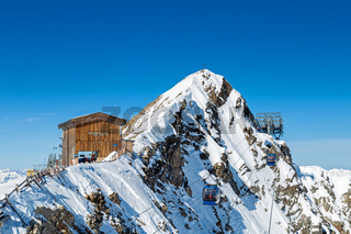 Hintertuxer Gletscher im Winter, Tirol, Oesterreich