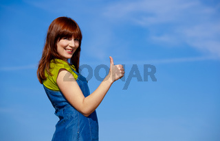 Happy woman on outdoor