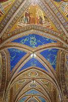 ceiling fresco, Basilica San Francesco, Assisi, Italy, Europe