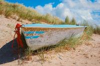Boat in the dunes - Texel