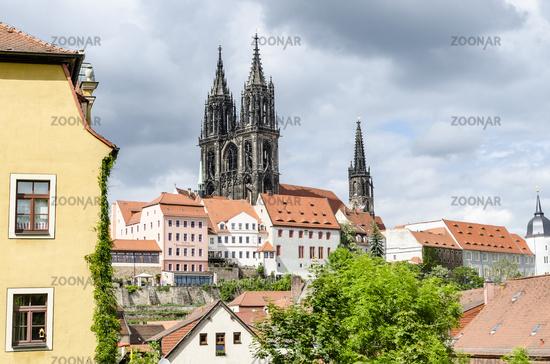 Blick zur Albrechtsburg und Meissner Dom