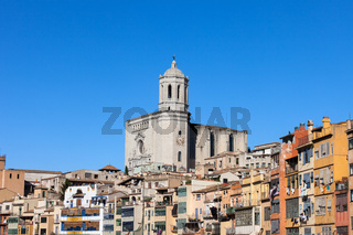Girona Cathedral and Old Town Houses