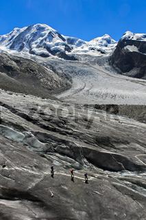 Auf dem Gornergletscher, Zermatt, Wallis, Schweiz
