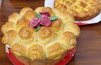 Homemade traditional Balkan pastry dish Pogaca