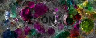 Abstract 3D glass panorama design illustration