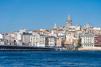 Istanbul skyline with view of Galata Tower in Turkey