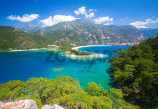Blue lagoon in Oludeniz, Turkey
