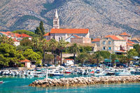 Town of Orebic on Peljesac peninsula waterfront view