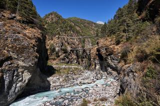 Hillary Hängebrücke in Nepal