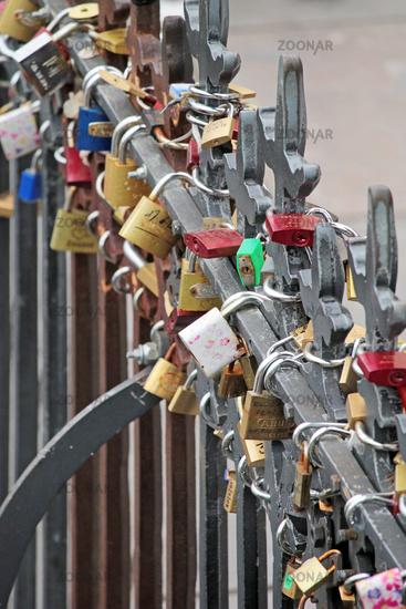 padlocks in Prague