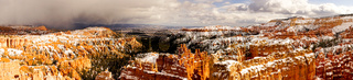 Bryce Canyon Endures Snow and Winter Weather in Utah Territory USA
