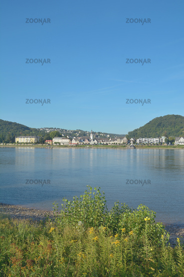 Health Resort of Bad Breisig at Rhine River,Rhineland-Palatinate,Germany