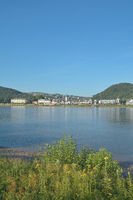 Health Resort of Bad Breisig at Rhine River,Rhineland-Palatinate,Germany